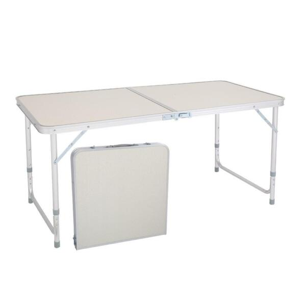 Portable Indoor Outdoor Aluminum Folding Table 4#x27; Picnic Party Camping Table