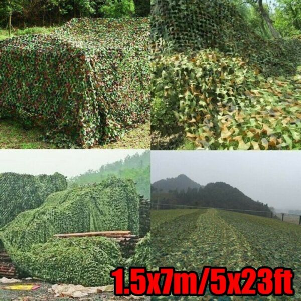 5x23ft Camouflage Woodland Military Net Camo Netting Hunting Camping Tent Cover