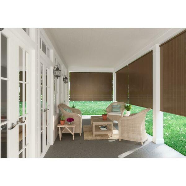 8 Ft Window Sun Shade Blind Roller Roll Up Exterior Cordless Patio Outdoor Porch $68.99
