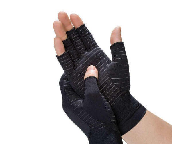 Copper Fit Black Large XL Compression Gloves