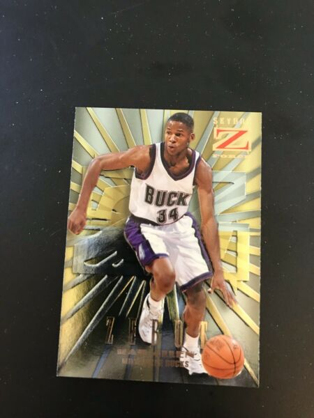 1996 97 Skybox Z Force Zebut Ray Allen #2 Rookie Card NR MT $19.99