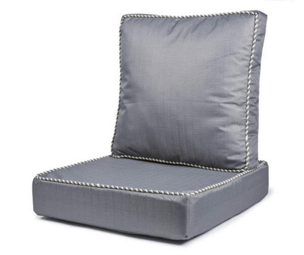 Gray Linen Deep Seat Outdoor Cushion Set $59.59