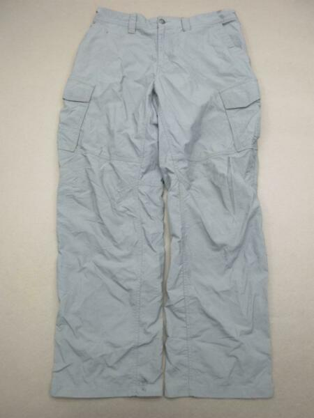 Rei Size L 36x30 Mens Gray Athletic Nylon Outdoor Hiking Cargo Pants T248 $18.99