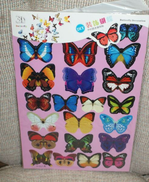 Removable DIY PVC 3D 23 Butterfly Wall Sticker Decorative Stickers Craft NEW $8.49