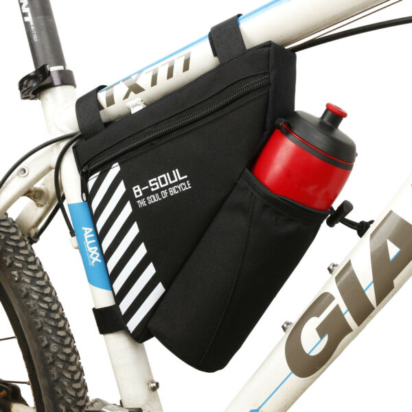 Bike Bag Bicycle Water Bottle Holder Handlebar Cycling Storage Triangle Pouch $12.99