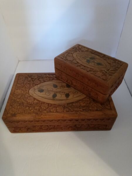 Set Of 2 Wooden Boxes Made In India