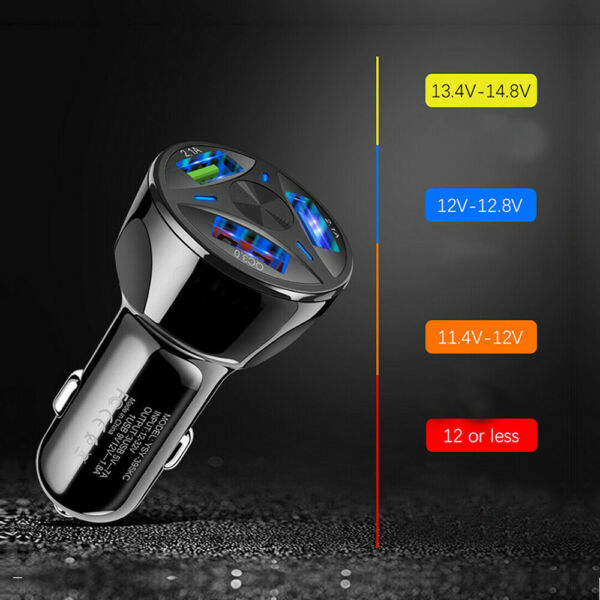 3 Ports USB Car Auto Charger Adapter LED Display QC 3.0 Fast Charging Universal $4.75