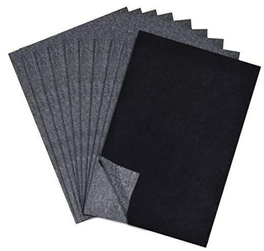100 Sheets Senior Carbon Paper Black Graphite Transfer Tracing Paper for $7.73