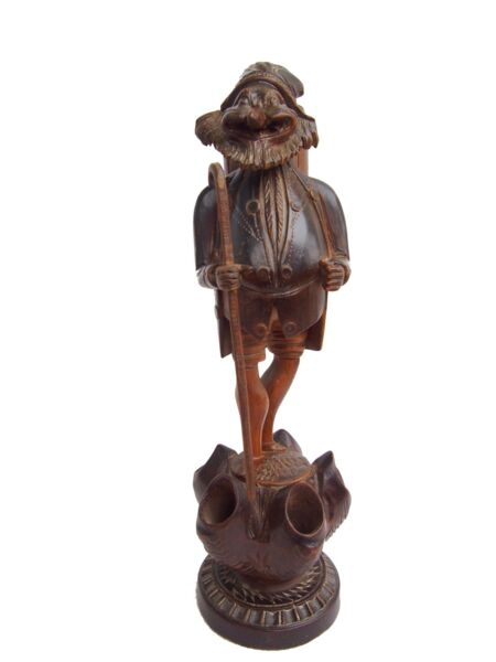 Grotesque Black Forest Carved Wood 19th