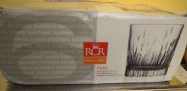 Set of 6 whisky glasses: RCR Home and table FIRE New in box