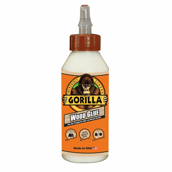 NEW Gorilla WOOD GLUE Indoor Outdoor Incredibly Strong Dries Natural Color HQ $5.99