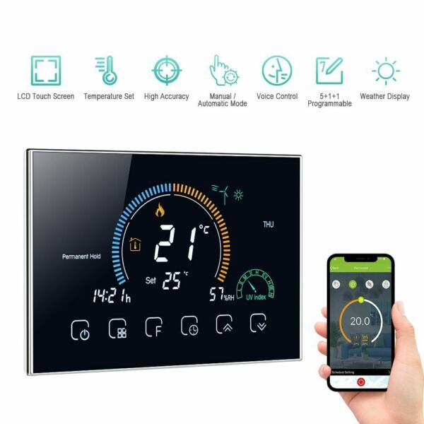 Water Gas Boiler Heating Thermostat Programmable Smart Termostato Wifi Voice App $115.06