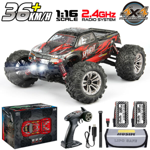 Hosim 1:16 RC Car 4WD 36km h High Speed Remote Control Monster Truck Red 9135 $79.95
