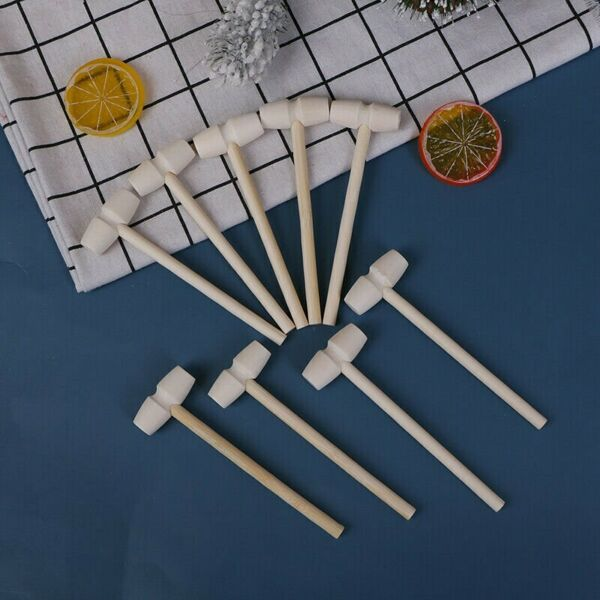 1 Pieces Mini Wooden Hammer Balls Toy Pounder Replacement Wood Mallets Baby LN