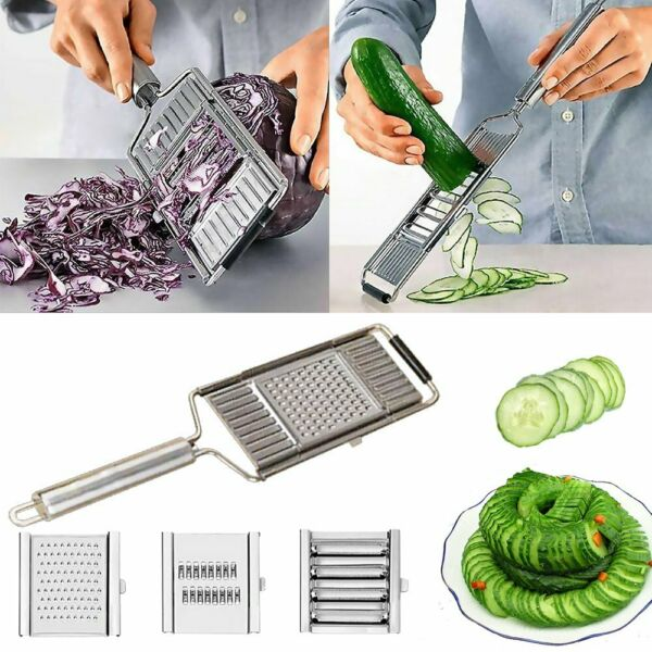 Multi Purpose Vegetable Slicer Kitchen Cooking Tool Stainless Steel Grater LN