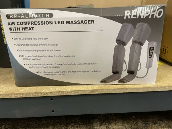 RENPHO Air Compression Leg Massager With Heat for Full Legs amp; Feet RF ALM070 $50.00