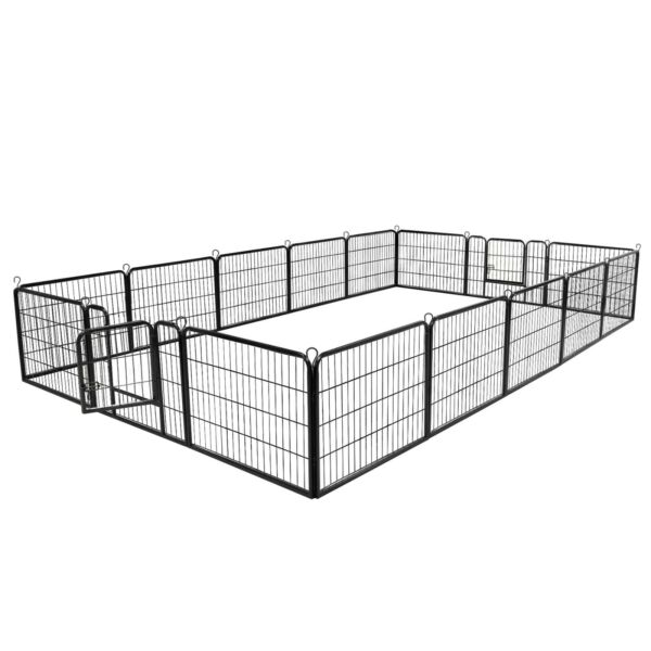 24quot;H Heavy Duty Metal Tall Dog Playpen Large Crate Fence16 Panels Free Delivery