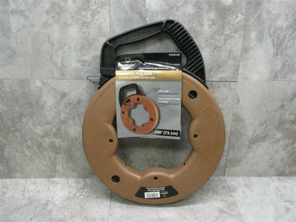 NEW Southwire FTS1 8 240 240#x27; Steel Fish Tape BRAND NEW FAST SHIPPING $51.91