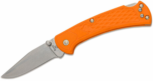 Buck Knives 112 Slim Select Ranger Blaze Orange Pocket Knife W Clip