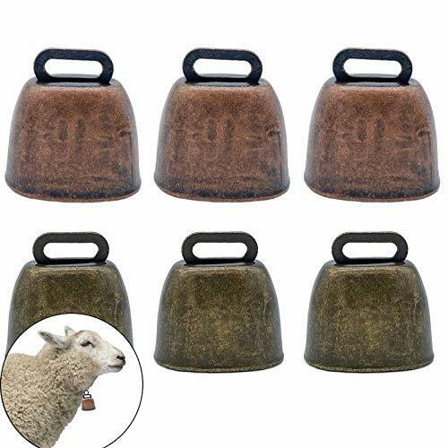 6 Pack Small Brass Bell Cow Horse Sheep Grazing Copper Bells Cattle Anti Theft