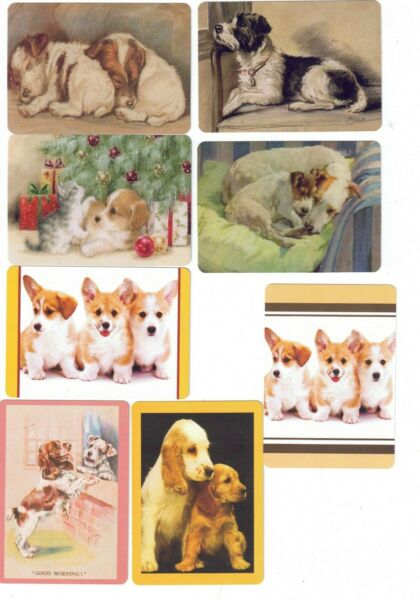 CUTE DOGS 8 swap playing cards AU $10.00