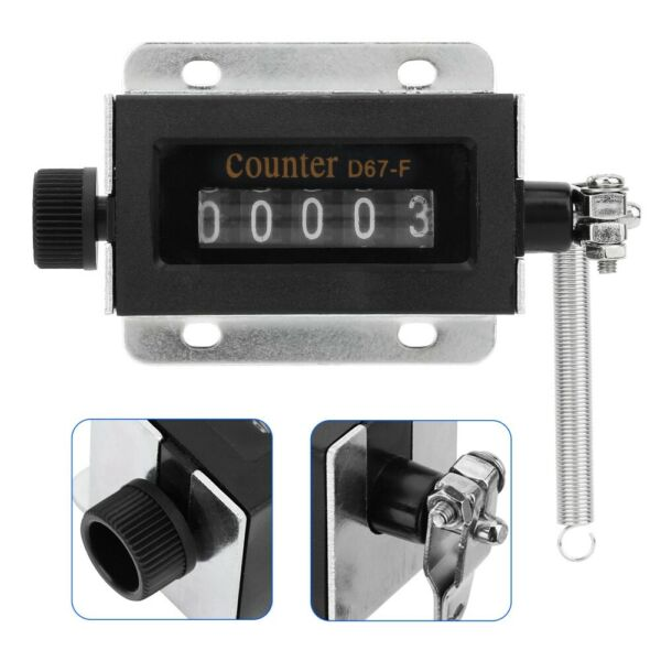D67F 5 digit Mechanical Resettable Hand Stroke Counter for Printing Machine