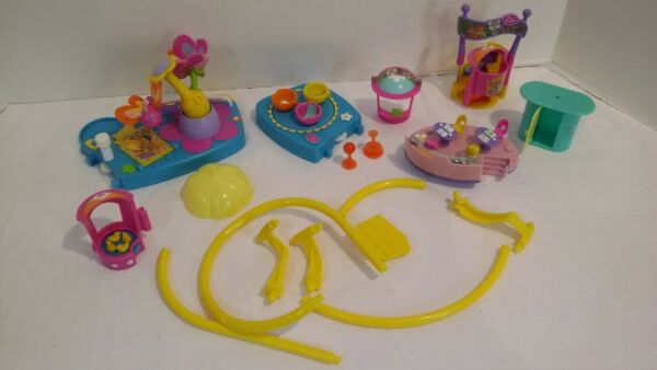 POLLY POCKET 2002 AMUSEMENT PARK Parts Tea Cup Cafe Ticket Booth Duck Pond $16.99