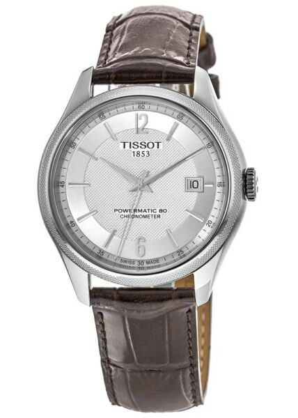 New Tissot Ballade Automatic Silver Dial Brown Men#x27;s Watch T108.408.16.037.00 $381.29
