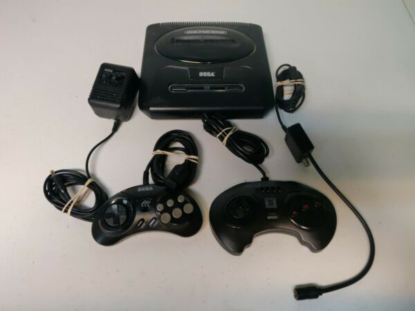 Sega Genesis Model 2 System Console 2 aftermarket controllers $40.97