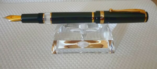 Taccia Fountain Pen Merit Collection Onyx Black Medium German Nib Iridium Point