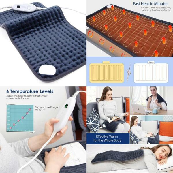 Electric Heating Pad Pain Relief Extra Large 12quot;x24quot; Ultra Soft 6 Settings $23.99
