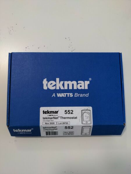 Tekmar 552 One Stage Heat Programmable Thermostat $100.00