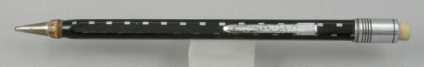 Eversharp Square4 Black w Grey Dashes amp; Chrome Trim 1.1mm Pencil 1930#x27;s