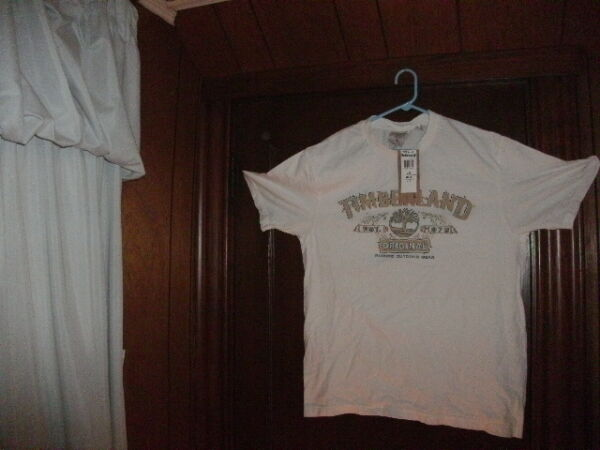 timberland t shirt short sleeve white TIMBERLAND ORIGINAL size large Brand new $8.90