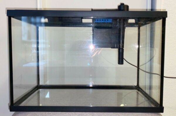 5 gallon fish tank with filter color changing led lights and vacuum cleaner  $40.00
