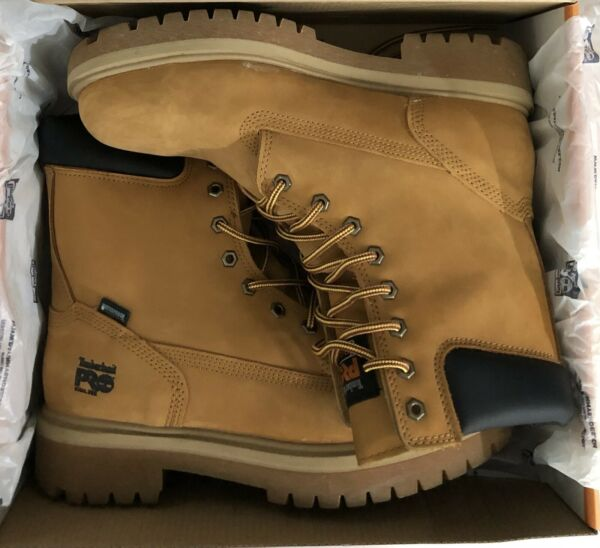 Timberland PRO Men#x27;s Direct Attach 6quot; Boots Wheat Nubuck Size 11 $51.00