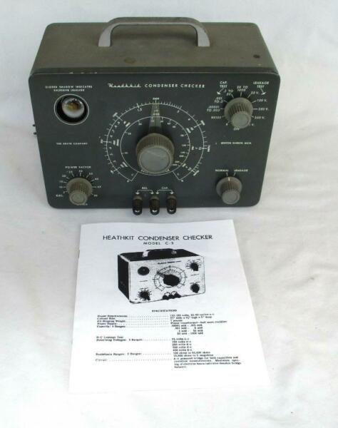 Heathkit Model C 3 Condenser Tester Recapped Working Perfectly $199.99