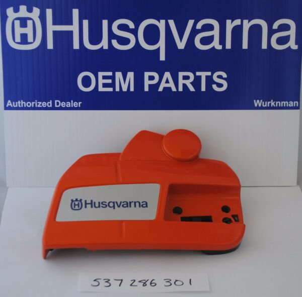 HUSQVARNA OEM 537286301 CLUTCH COVER WITH CHAINBRAKE for RANCHER 455 460 $66.55