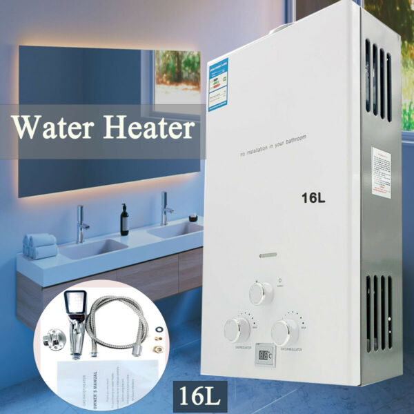 16L 32KW LPG Propane Gas Tankless Instant Water Heater with Shower Head Kit $129.00