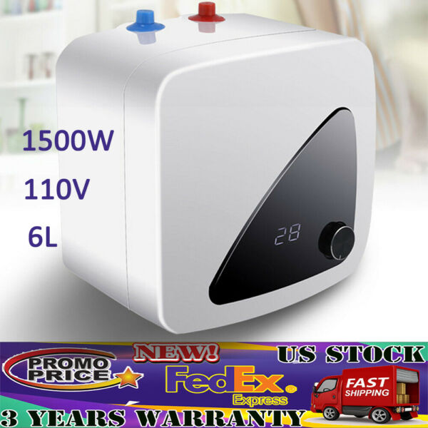 6L 1500W Instant Electric Water Heater Tankless Shower Bathroom Hot Water System $81.00