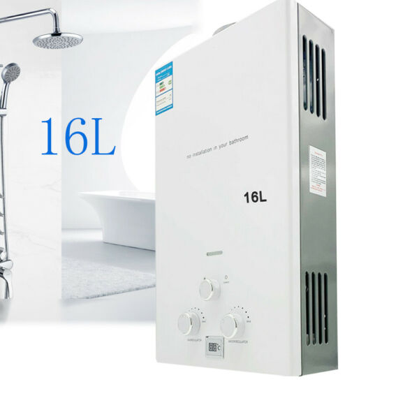 4.3GPM LPG Propane Gas Instant Water Heater Camping Tankless Water Heater 16L $129.01