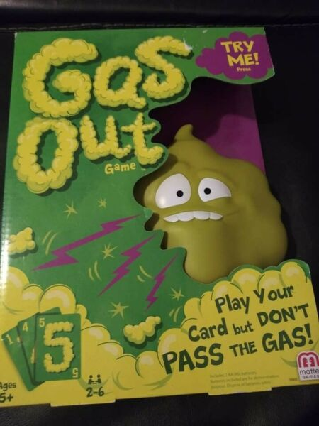 Mattel Games Gas Out Game Ages 5 New $9.90