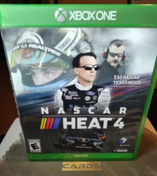 NASCAR Heat 4 Microsoft Xbox One Mint Condition Fast Shipping $6.00