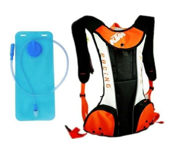 White KTM Bike Cycling Sport Water Drinking Bag Hydration Backpack Camel Pack 2L $29.95