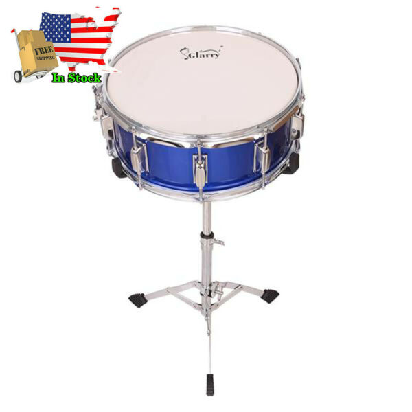 Glarry Ten Tuning Lugs Snare Drum Popular Wood Drum Percussion Set amp; Stand