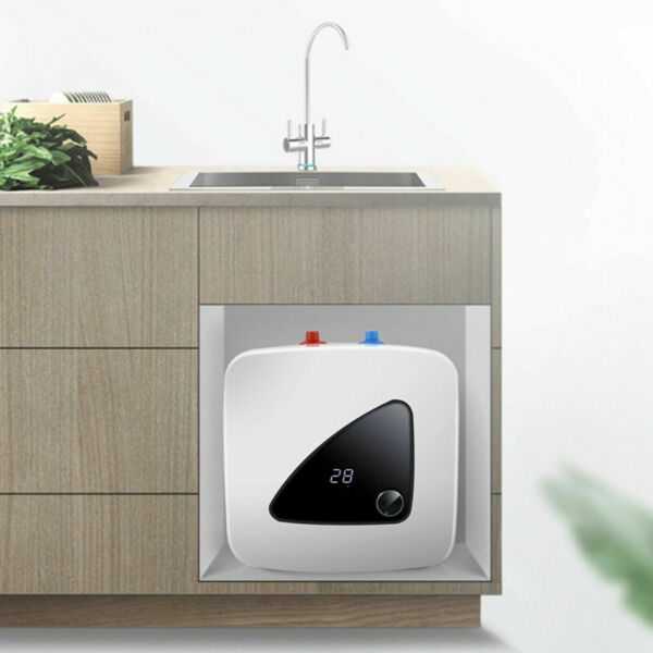 Mini Electric Tankless Instant Heater for Shower Kitchen 1500W 110V 6L 30℃ 65℃ $81.00