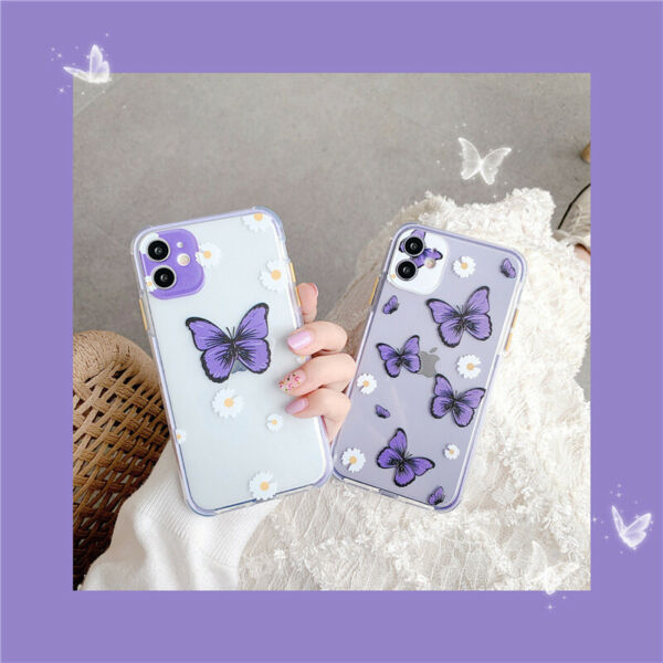 Cute Butterfly Aesthetic Soft For iPhone Xs Max 11 12 Mini Pro Max Phone Case $8.61