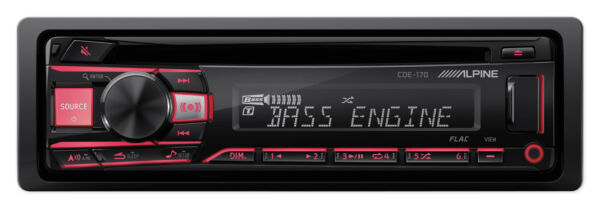 ALPINE CDE 170 Single Din In Dash Car CD Receiver Stereo Android MP3 WMA USB AUX