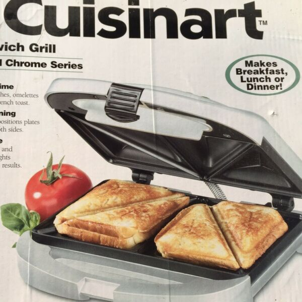 NOS Cuisinart Grill Sandwich Maker Toaster Electric Cheese French Toast
