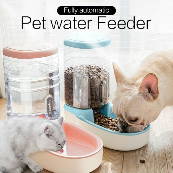 Cat Feeding Bowls for Dog Automatic Feeders Water Dispenser Fountain Bottles $15.10